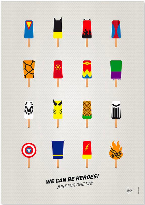 superhero popsicles